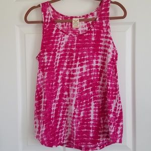 Faded Glory Pink Tye Dye Tank Top